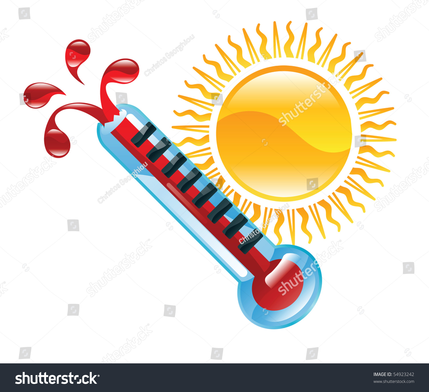 Weather Icon Clipart Boiling Hot Thermometer Illustration ...