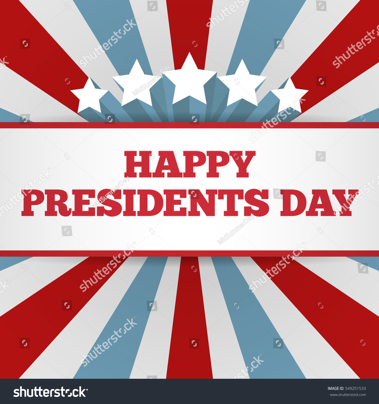 presidents day background usa patriotic template stock vector