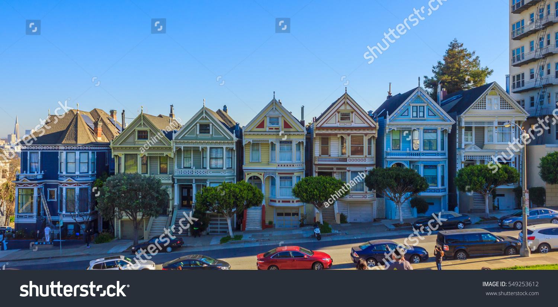 20161229 Painted Ladies San Francisco California Stock Photo Edit
