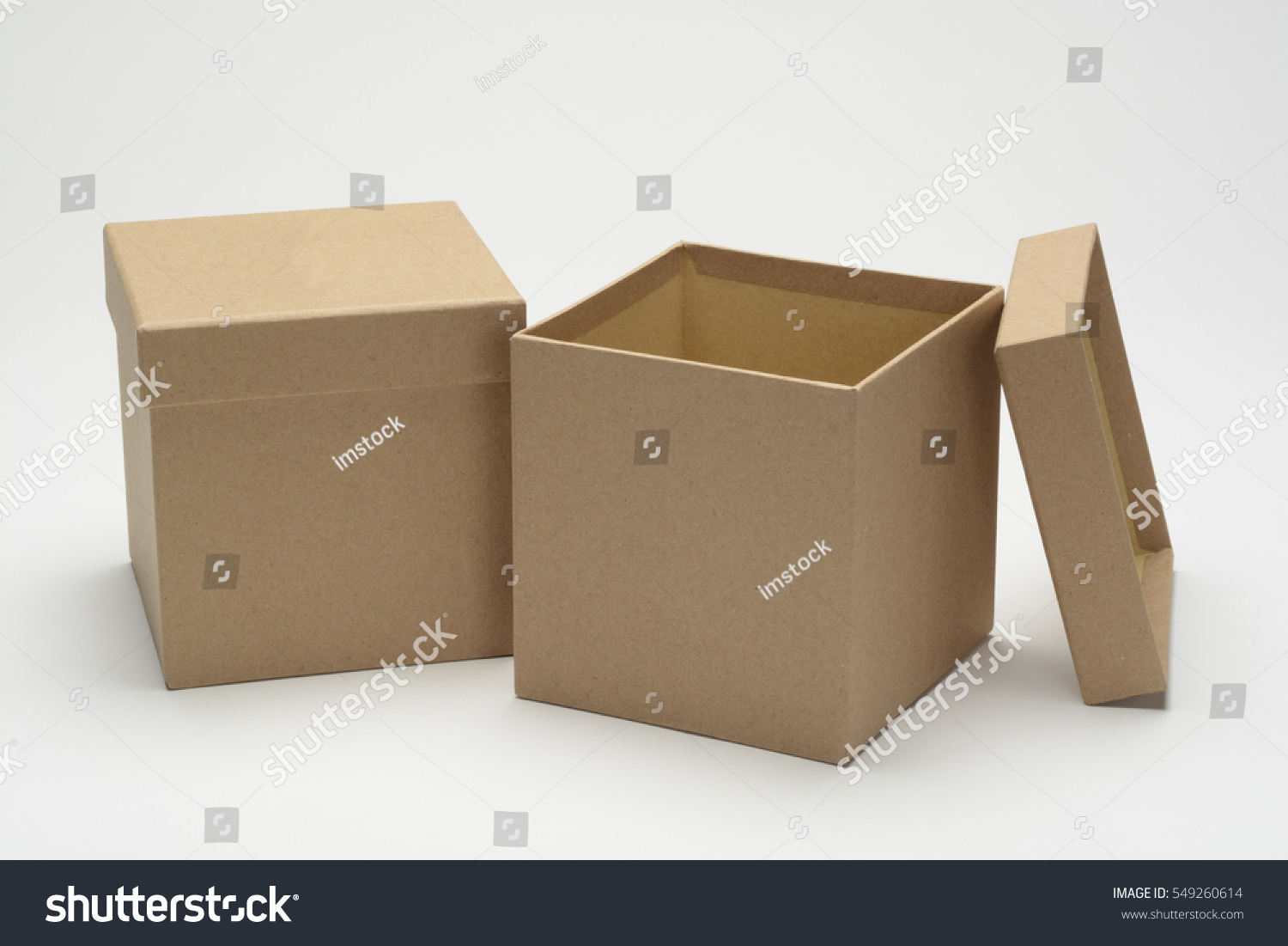 Square gift boxes or cardboard cubes on white background & Square Gift Boxes Cardboard Cubes On Stock Photo 549260614 ... Aboutintivar.Com