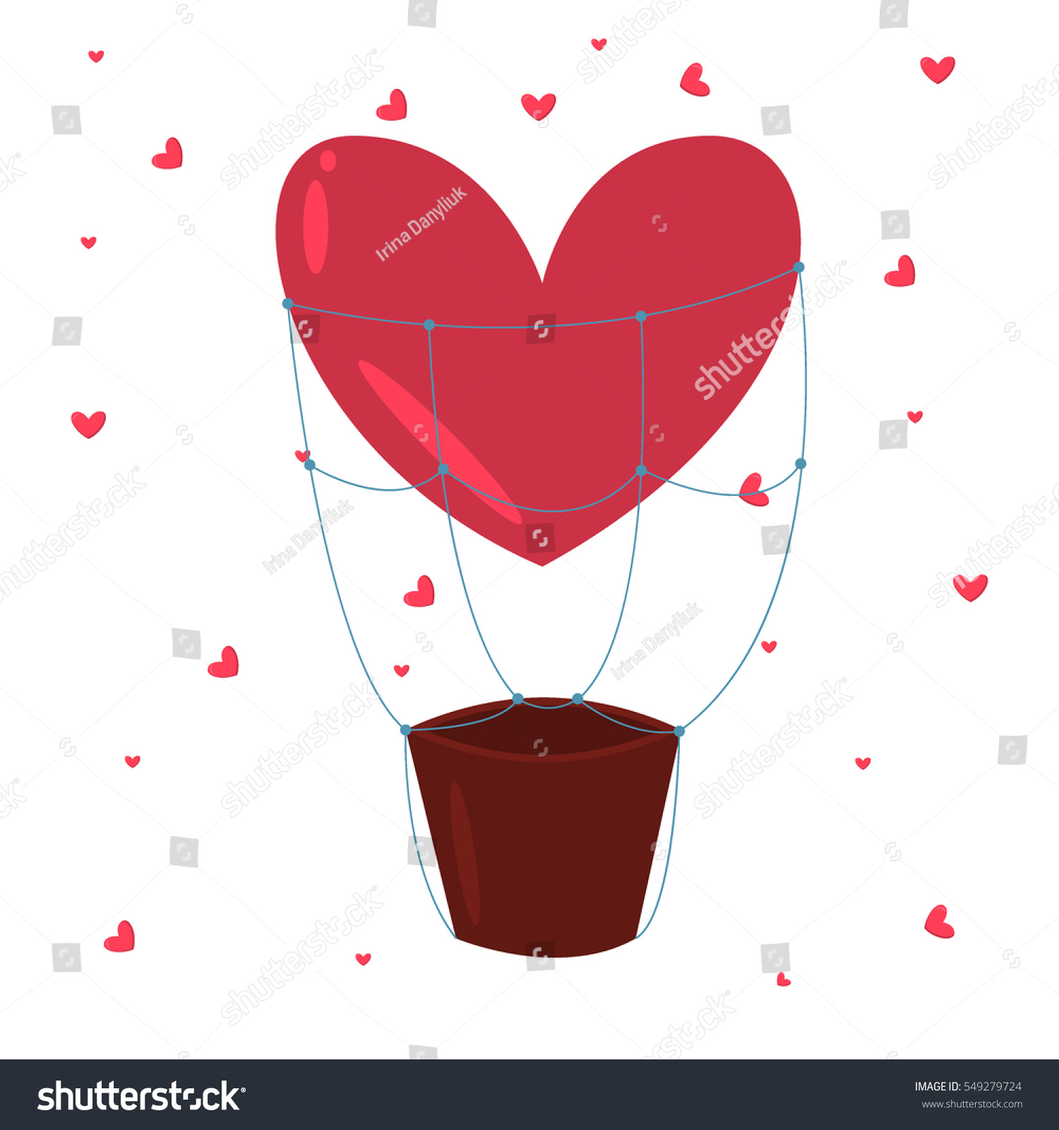 Valentine Day 14 February Greeting Card Stock Vector Royalty Free