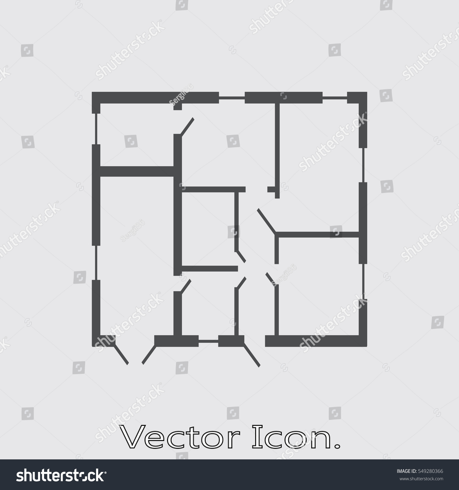 House Plan Icon Isolated Sign Symbol Stock Vector Royalty Free