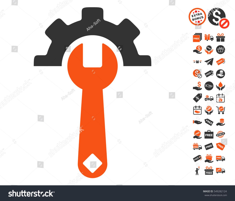 Service tools icon free bonus graphic stock vector 549282124 service tools icon with free bonus graphic icons vector illustration style is flat iconic symbols biocorpaavc Images
