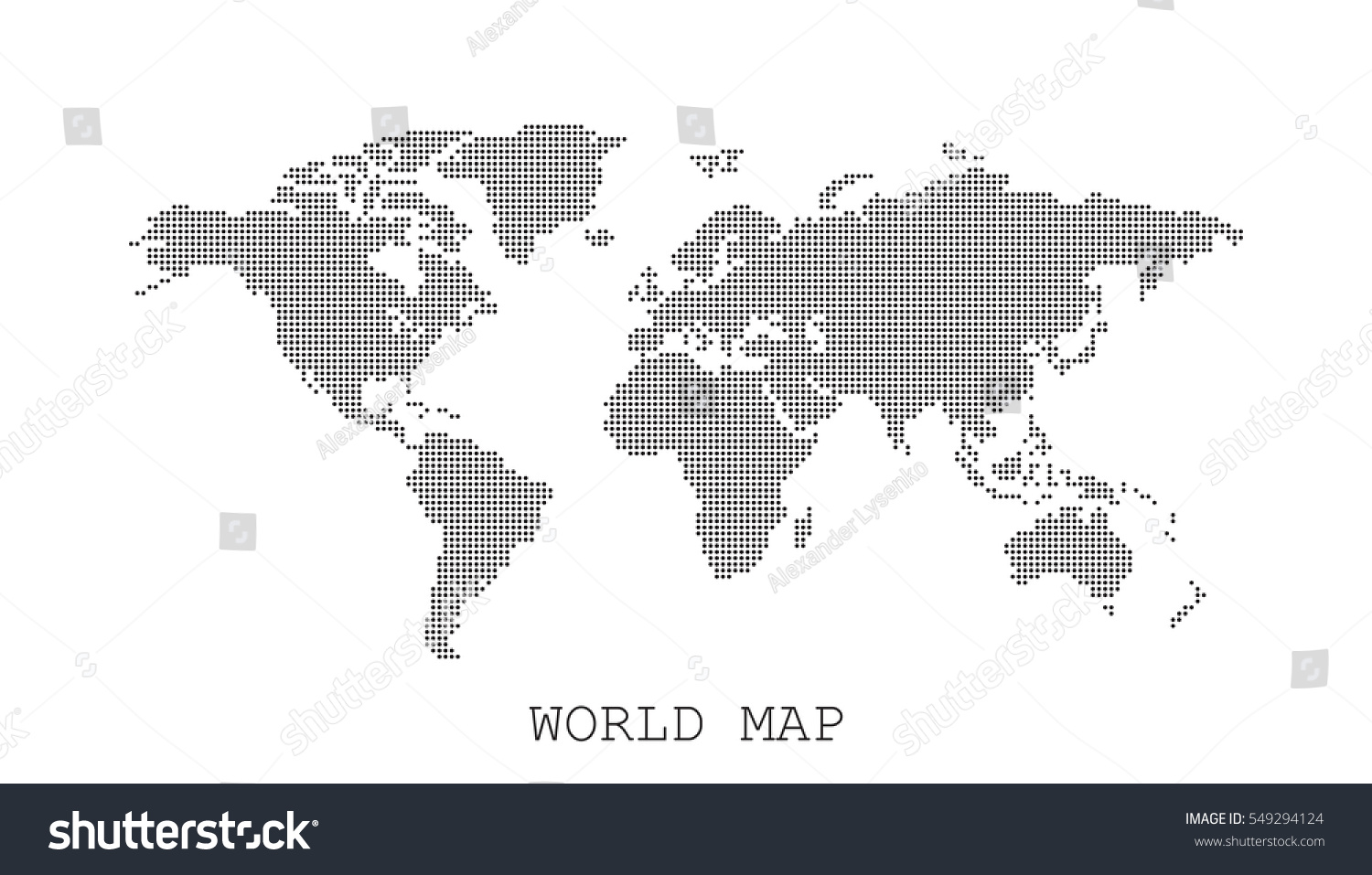 Dotted blank black world map isolated stock vector 549294124 dotted blank black world map isolated on white background world map vector template for website gumiabroncs Image collections