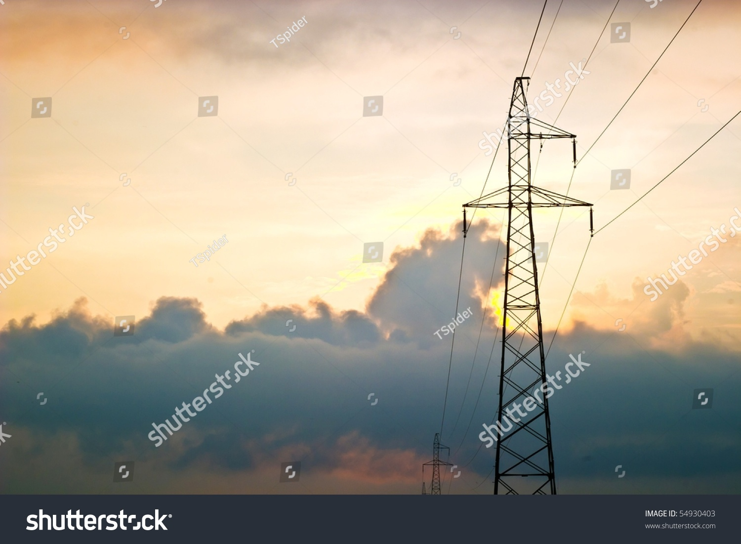Color Wires Box Distribution Electricity Stock Photo Royalty Free Wiring Sky In A Of An