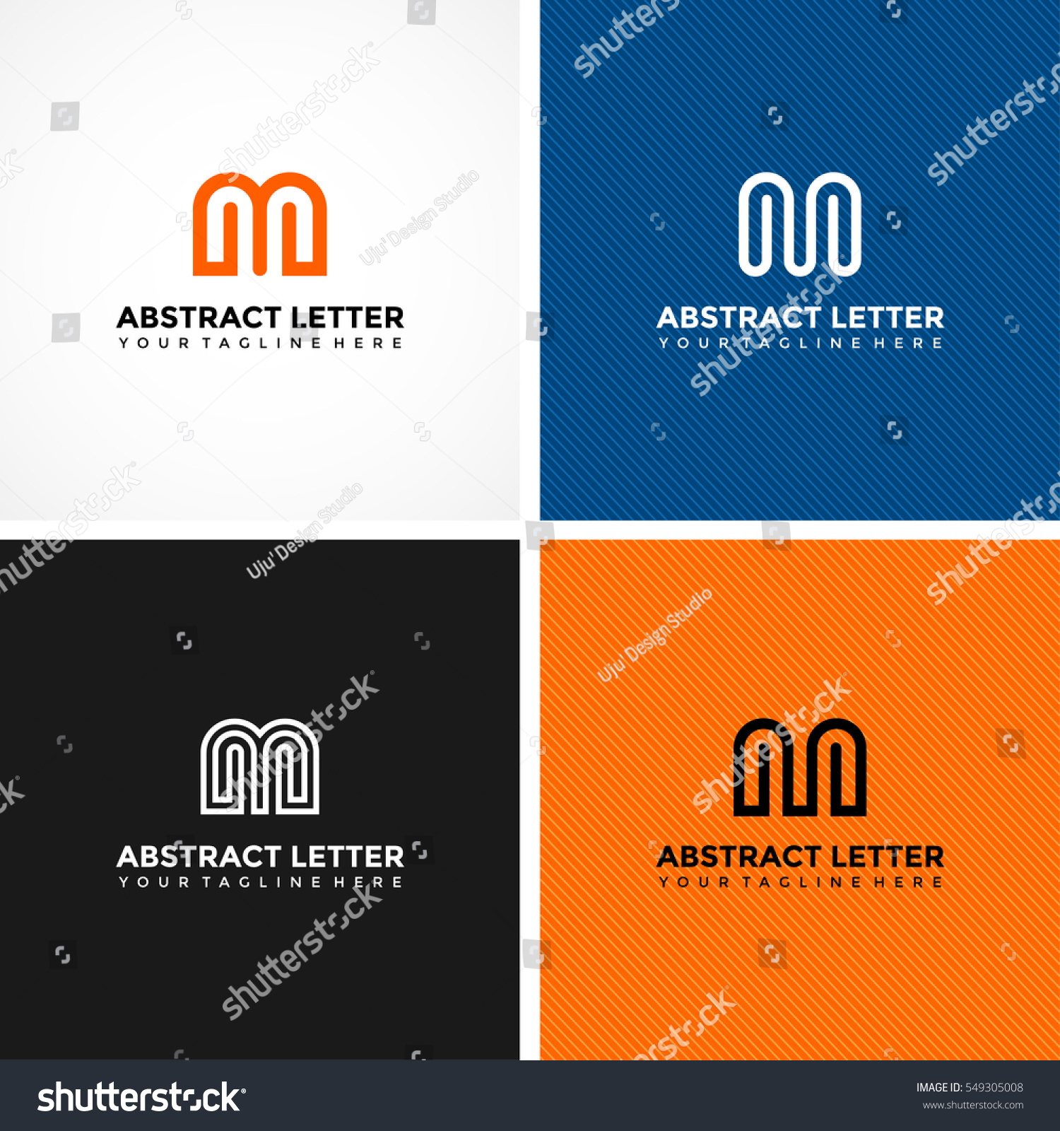 Abstract Letter M Logo Template 4 Stock Vector (2018) 549305008 ...