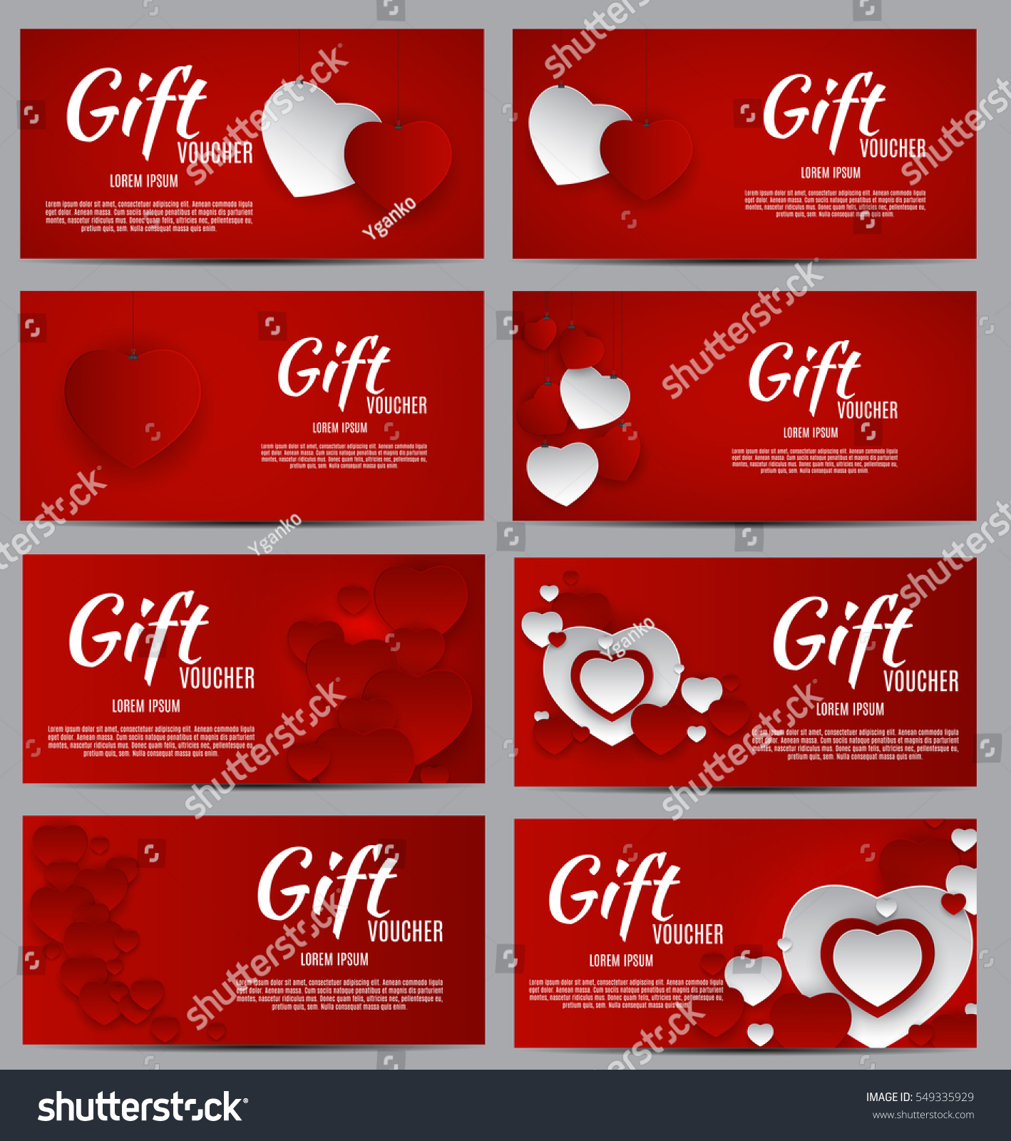 Gift Voucher Template Your Business Valentines Stock Vector ...