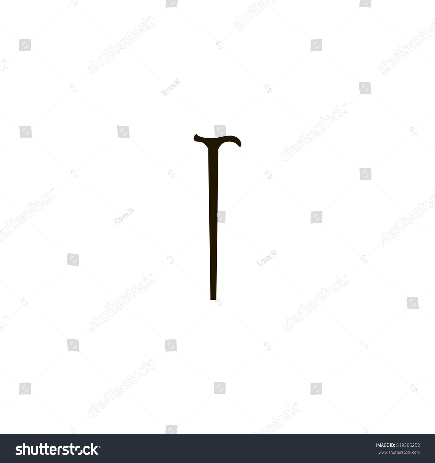 Walking stick icon sign design stock vector 549385252 shutterstock walking stick icon sign design biocorpaavc Image collections