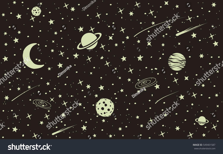 Vintage Space Background Many Stars ...