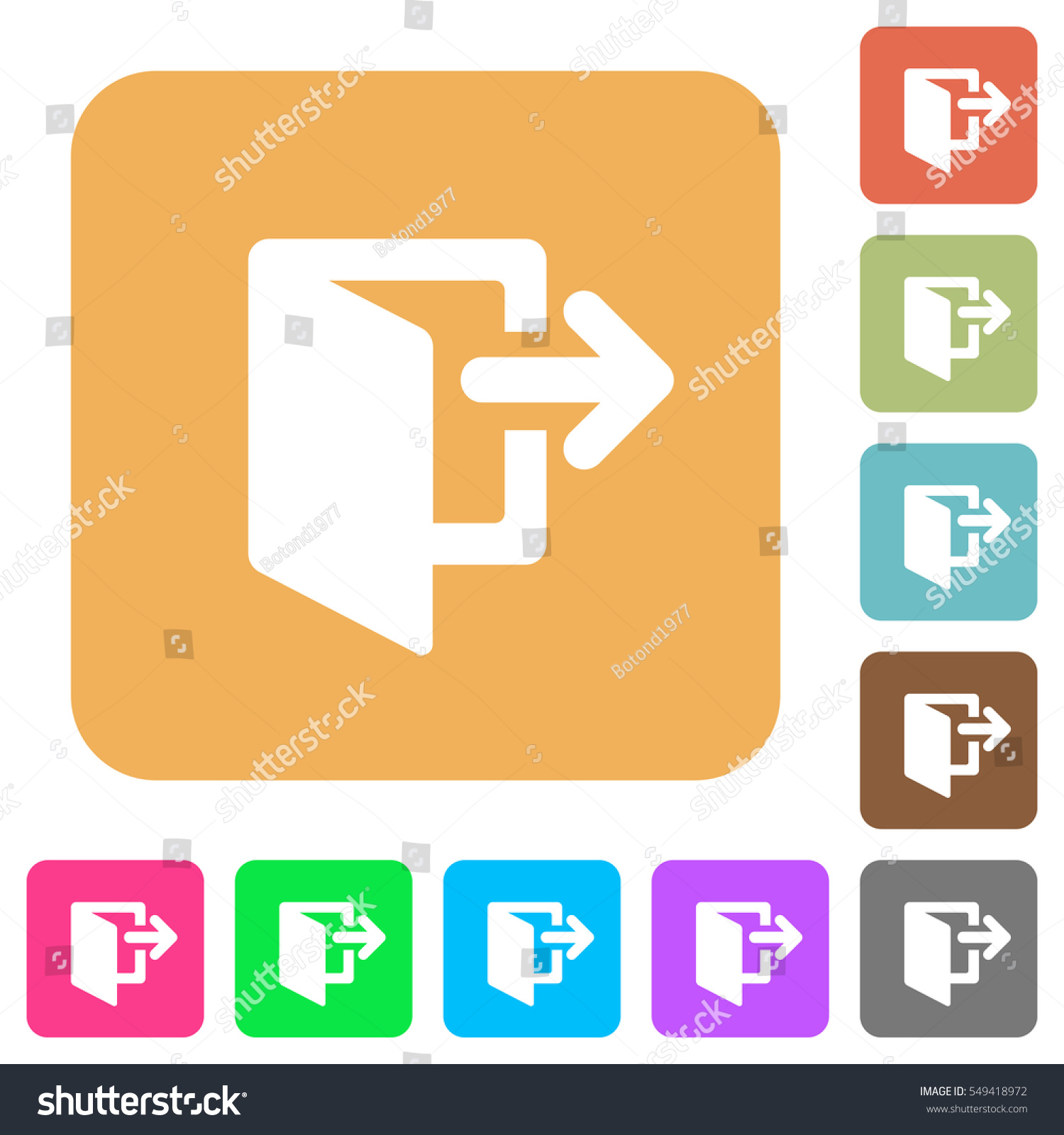 Exit Icons On Rounded Square Vivid 549418972