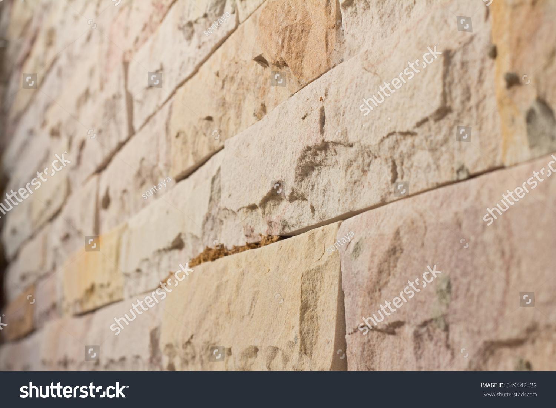 Brick Wall Interior Rock Stone Texture Stock Photo Edit Now 549442432