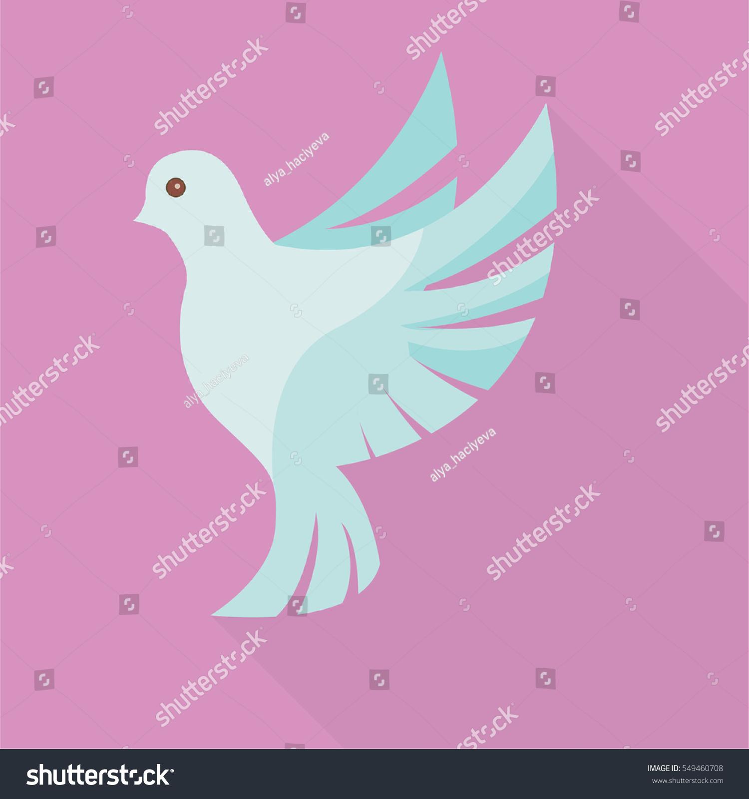 Wedding Dove Flat Icon Vector Illustrator Stock Vector HD (Royalty ...