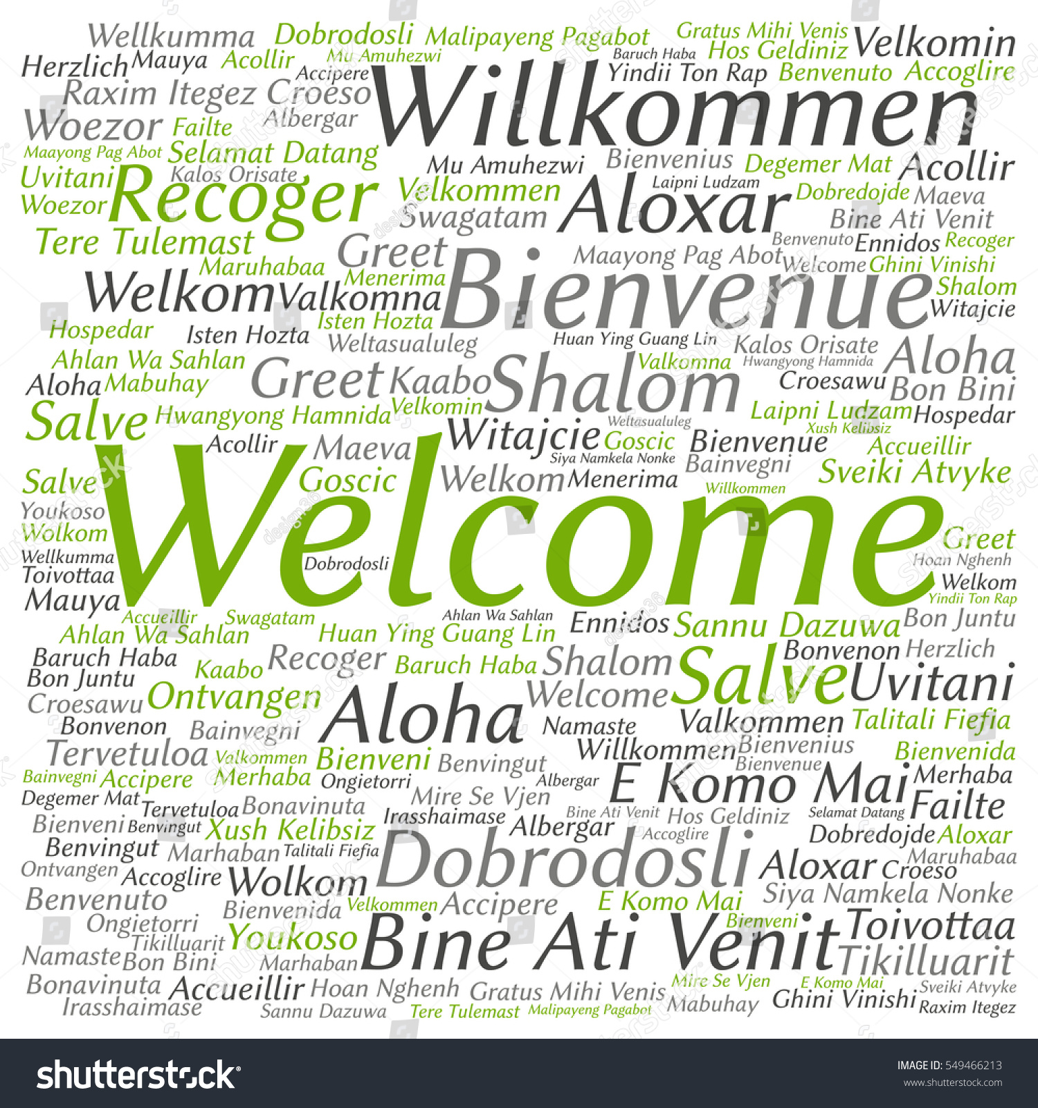 Concept Conceptual Abstract Welcome Or Greeting International Word