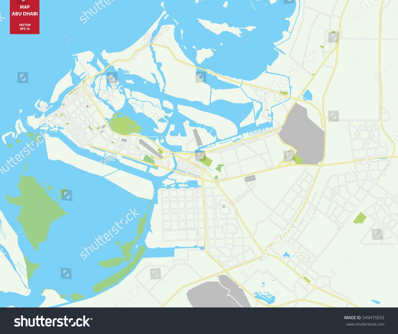 Vector Color Map Abu Dhabi Uae Stock Photo Photo Vector