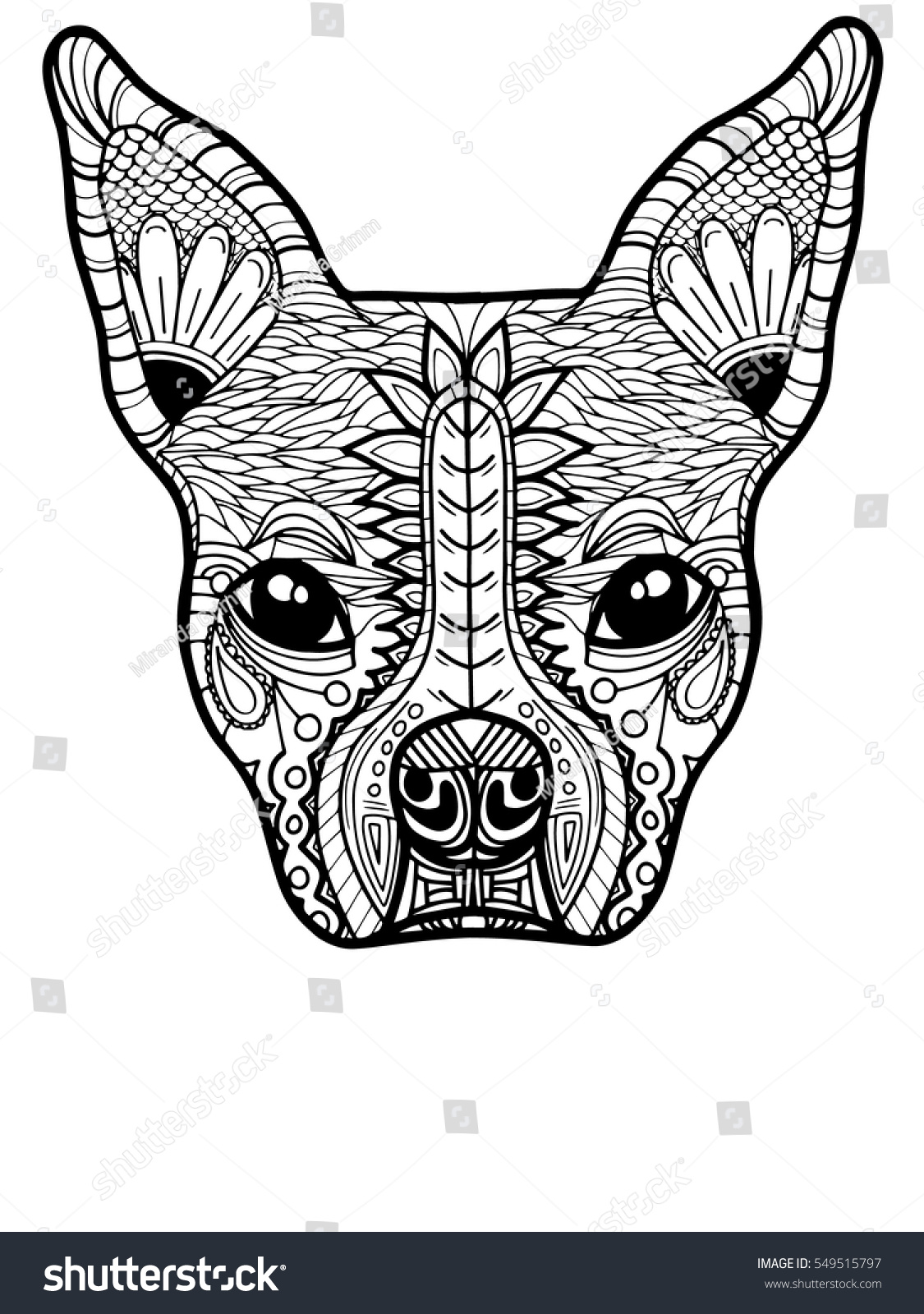 boston terrier or french bulldog adult coloring page - Boston Terrier Coloring Page