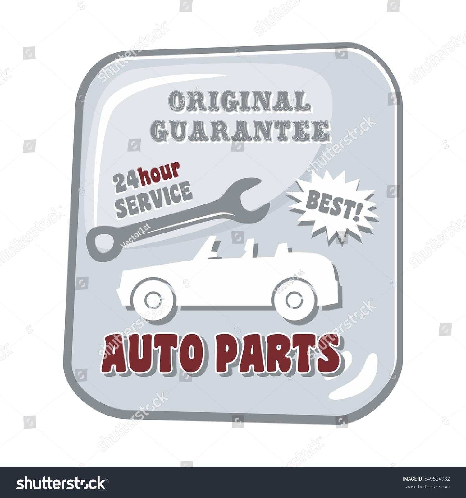 Auto Parts Vehicle Car Transportation Service Stock Illustration ...