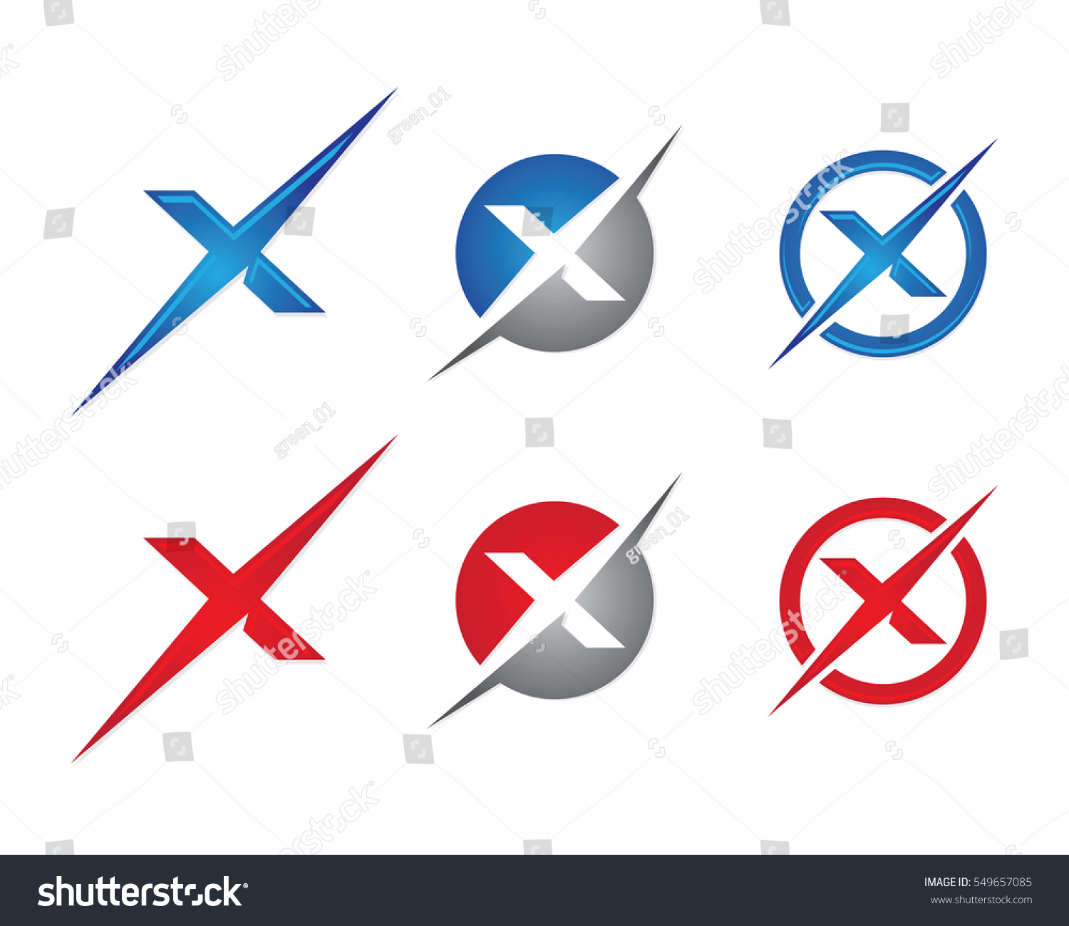 x letter logo template vector icon stock vector 549657085
