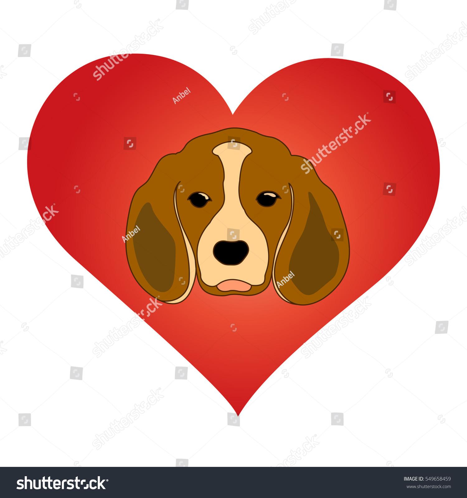 Love My Dog Animal Love Symbol Stock Vector Royalty Free 549658459