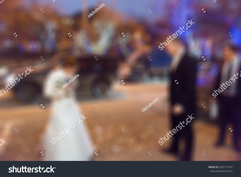 Wedding Ceremony Theme Creative Abstract Blur Stock Photo
