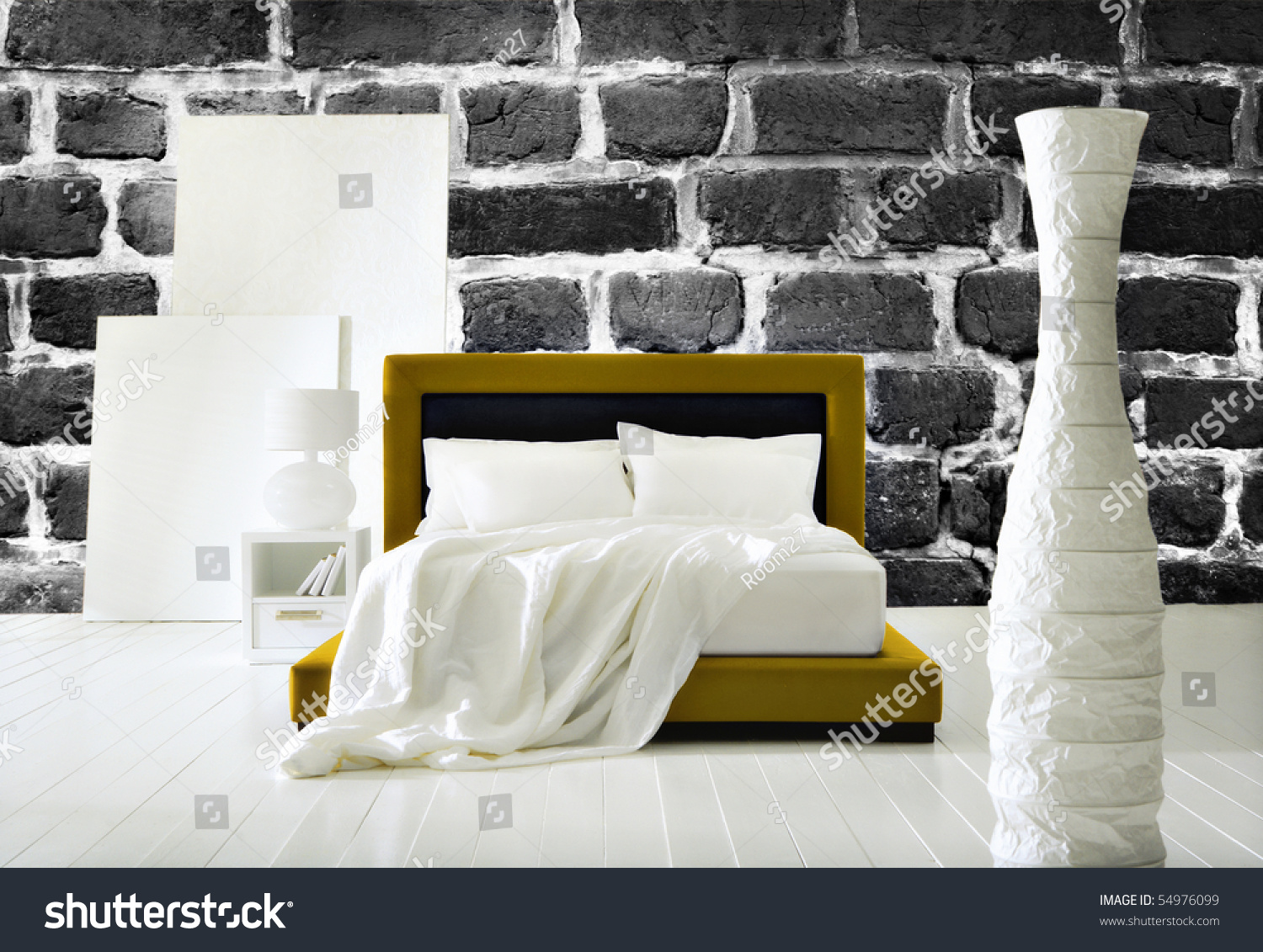 Modern Industrial Bedroom Modern Industrial Bedroom Stock Photo 54976099 Shutterstock