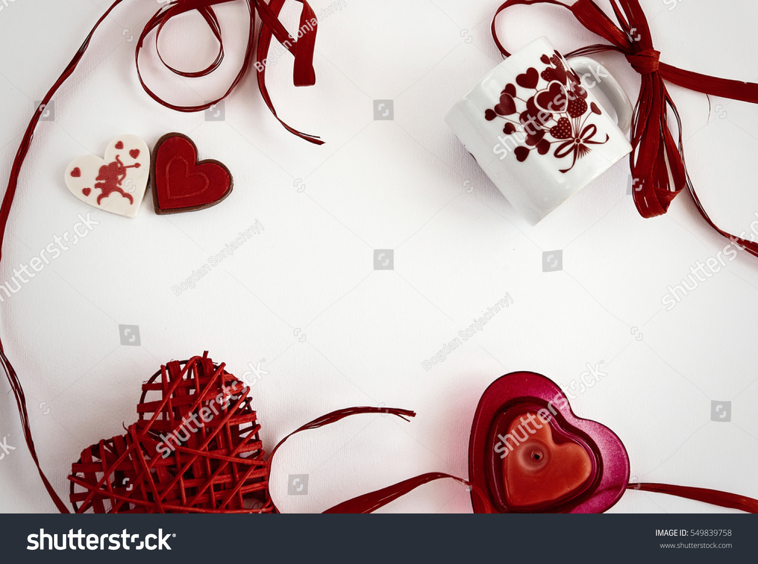 Happy Valentine Day Concept Frame Space Stock Photo (Edit Now ...