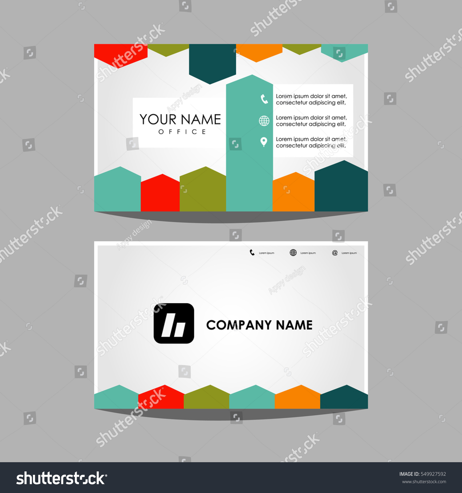 Layout template id card business card stock vector 549927592 layout template id card and business card design magicingreecefo Image collections