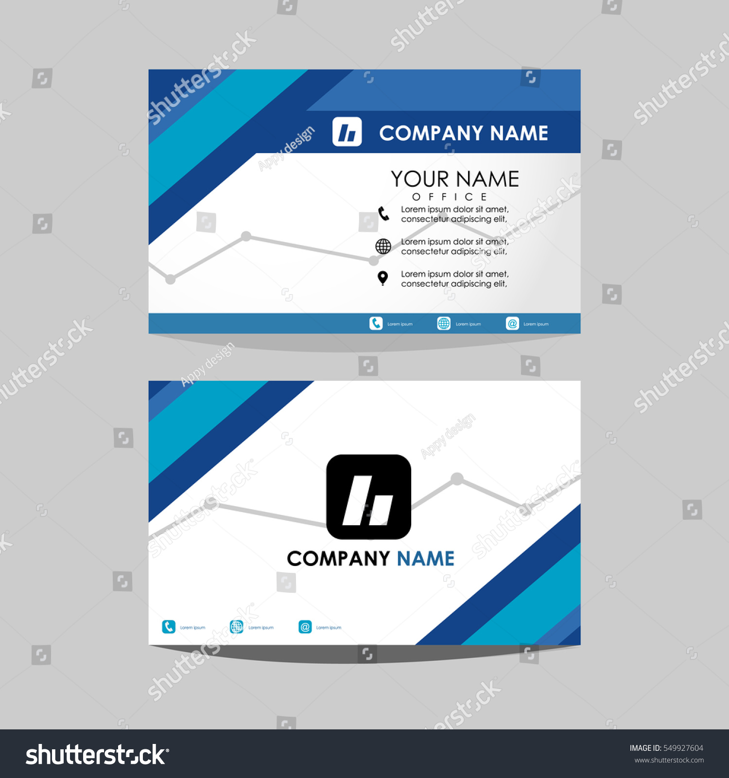 Layout Template Id Card Business Card Stock Vector 549927604 ...