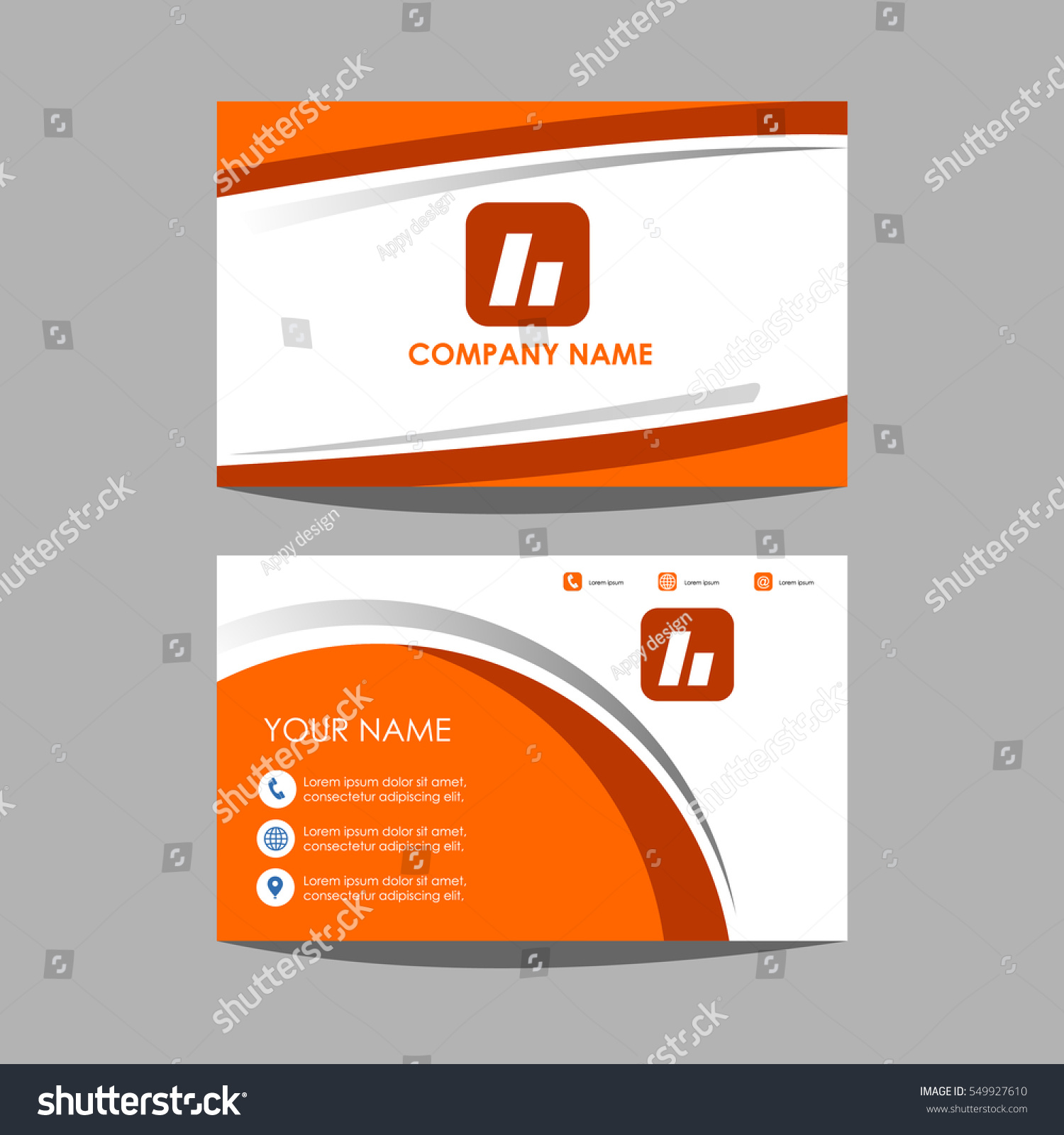 Layout Template Id Card Business Card Stock Vector