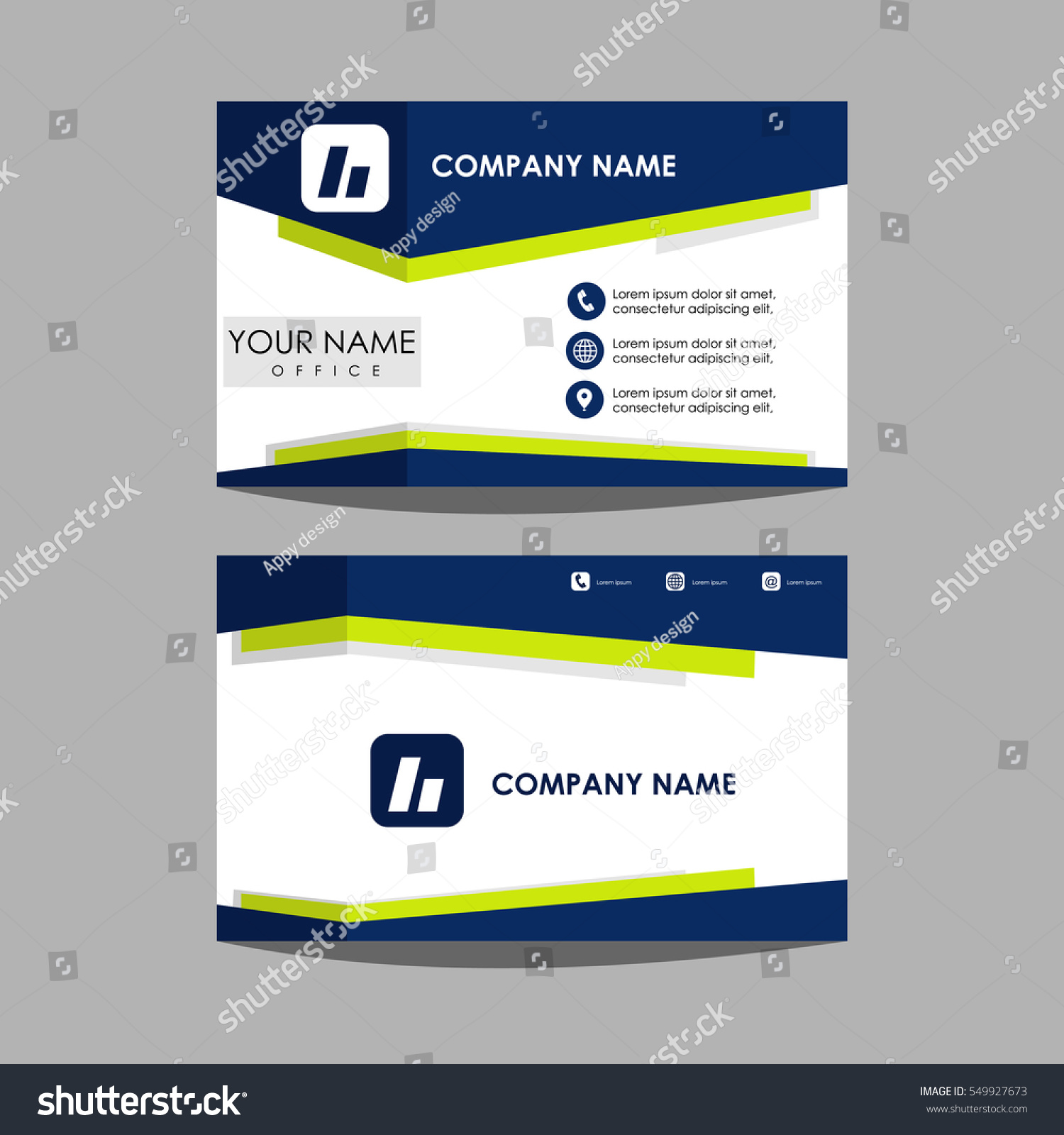 Layout Template Id Card Business Card Stock Vector 549927673 ...