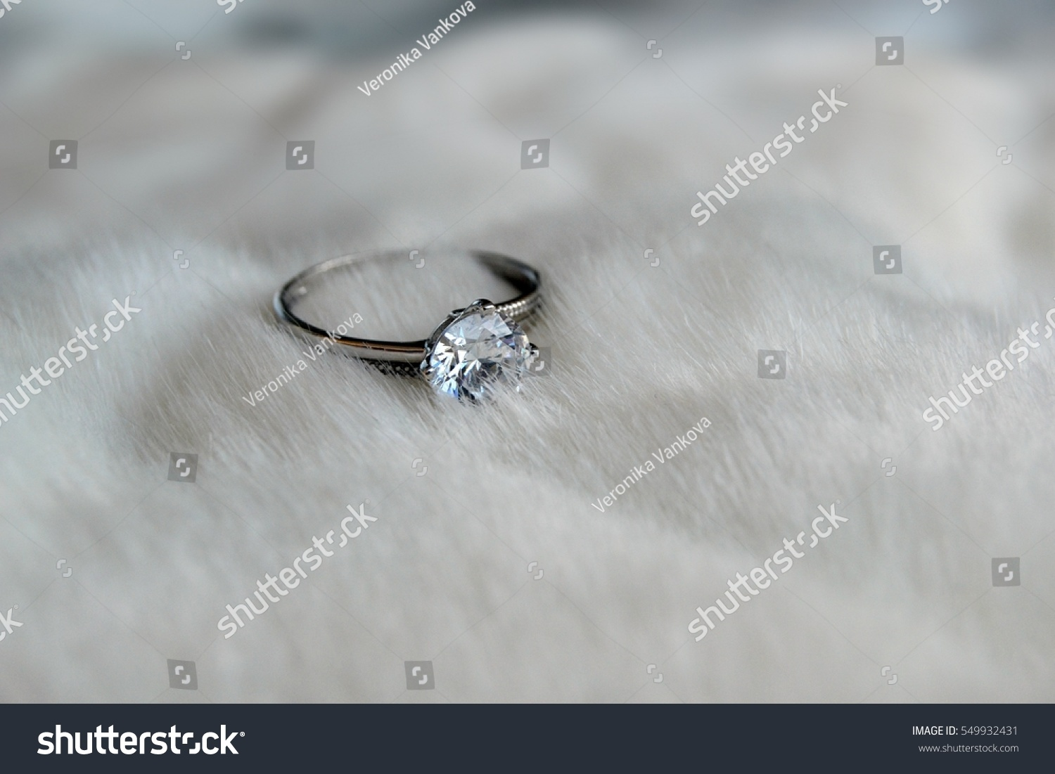 Nice Ring White Gold Diamond On Stock Photo 549932431 - Shutterstock