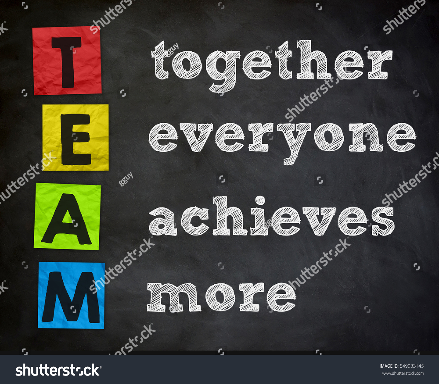 team together everyone achieves more If you have been to any of our seminars, you know that we like to make a big deal about operating as a team instead of as a staff it's my happy place.