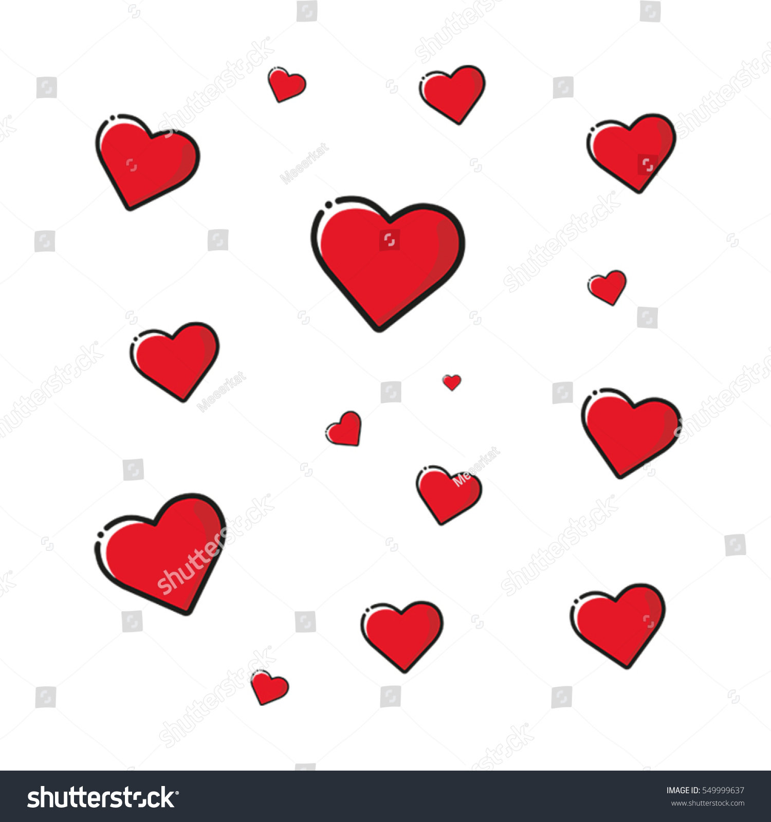 Heart Valentines Day Mothers Day Birthday Stock Vector 549999637    Shutterstock