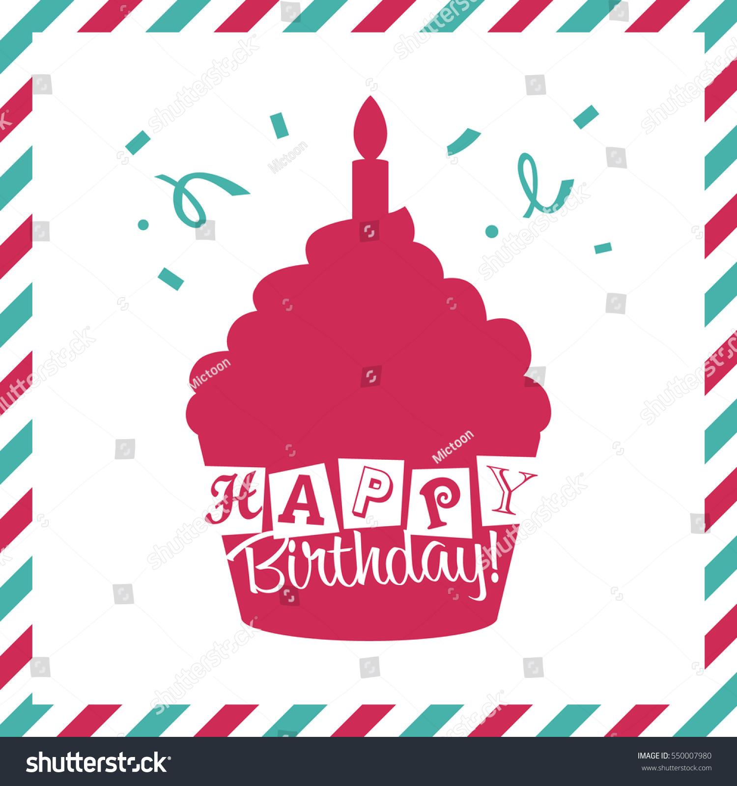 Happy Birthday Invitation Greeting Card Party Stock Photo (Photo ...