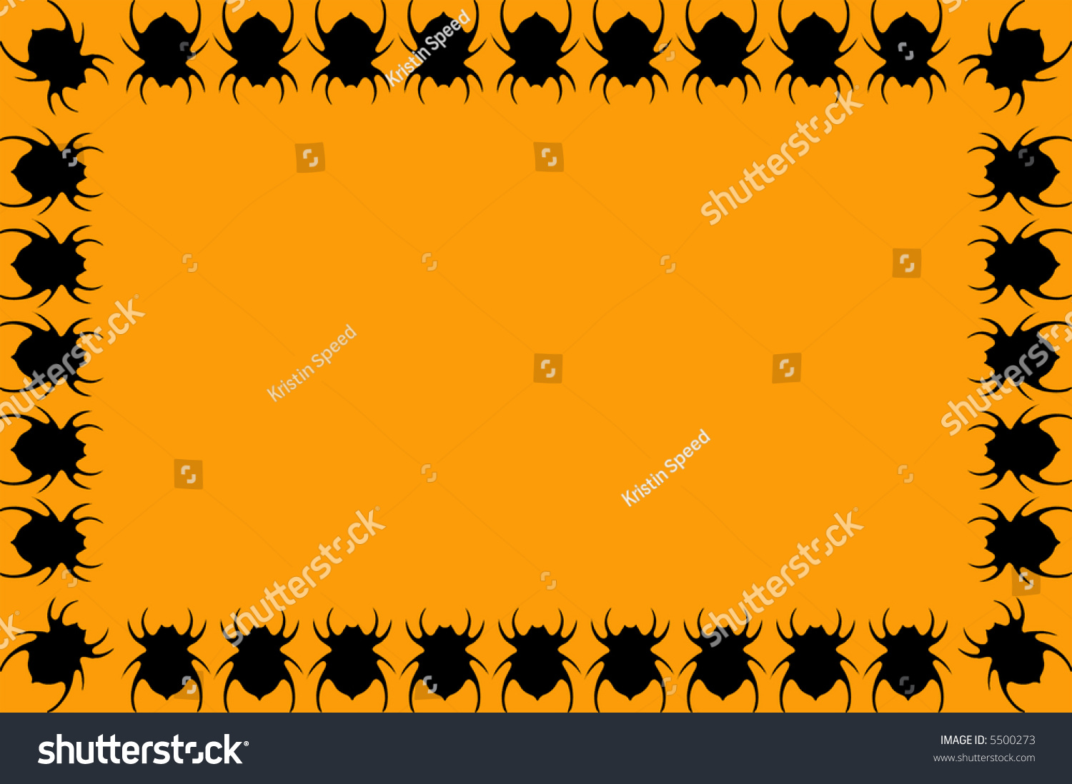 spider frame background halloween themes stock illustration 5500273