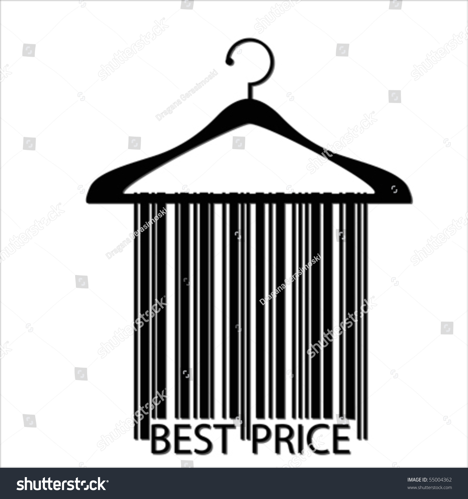 Best Price Barcode Clothes Hanger, Isolated Over ...