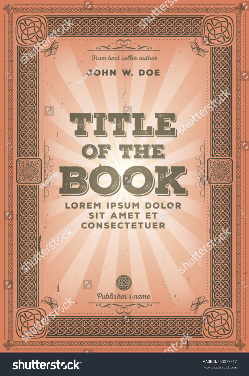 Vintage Book Cover Illustration : Illustration vintage old retro classical book stock vector