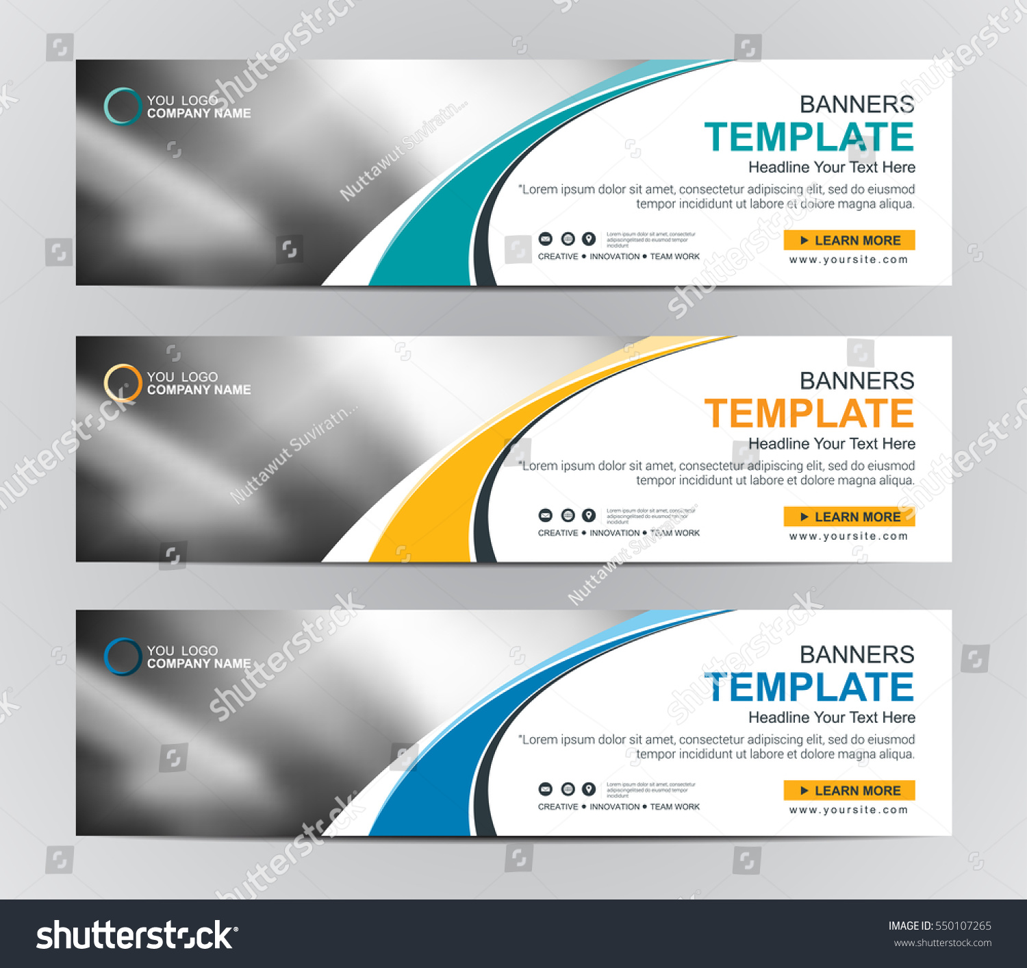 Abstract Web Banner Design Background Header Stock Vector Royalty