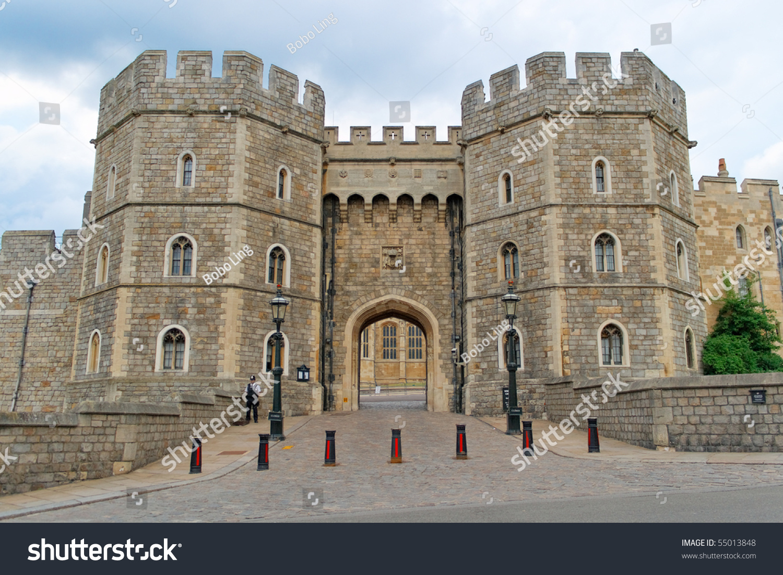 King Henry Viii Gate Windsor Castle Stock Photo 55013848 ...