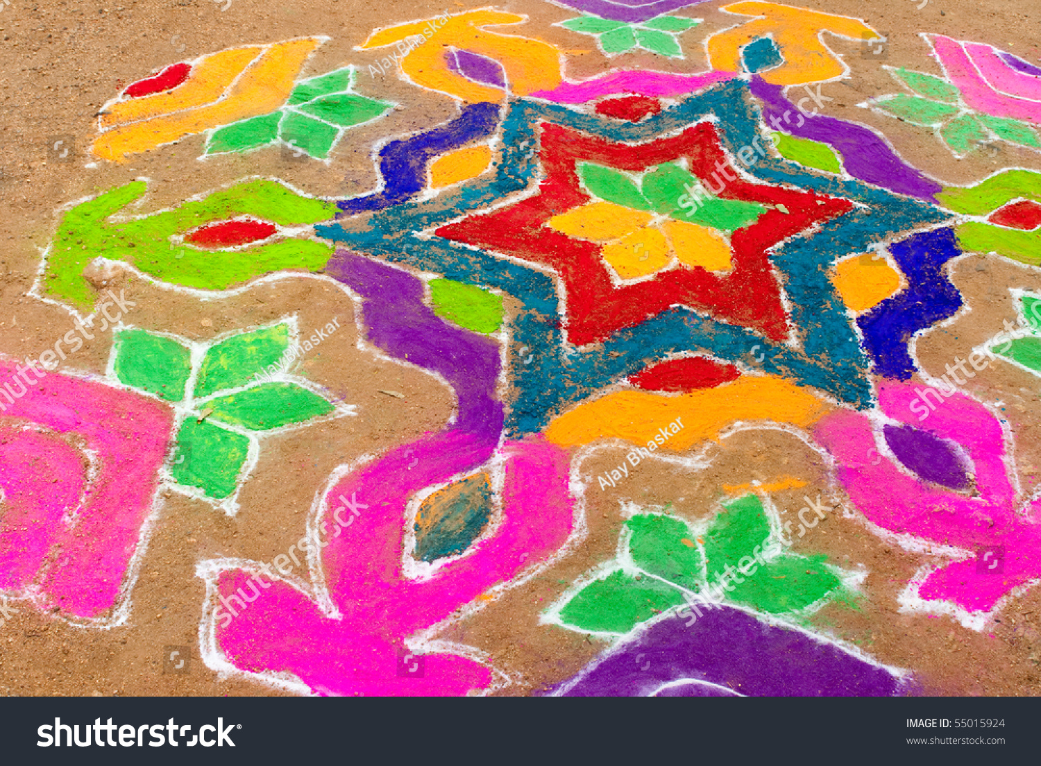Indian Festival Decoration Bright Indian Colours Used Decoration Festival Stock Photo