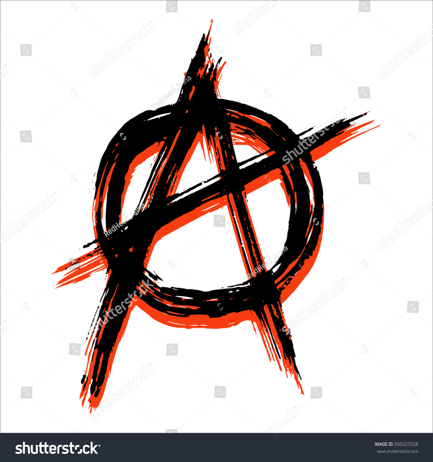 Vector Illustration Black Anarchy Sign Painted Stock Vector Royalty