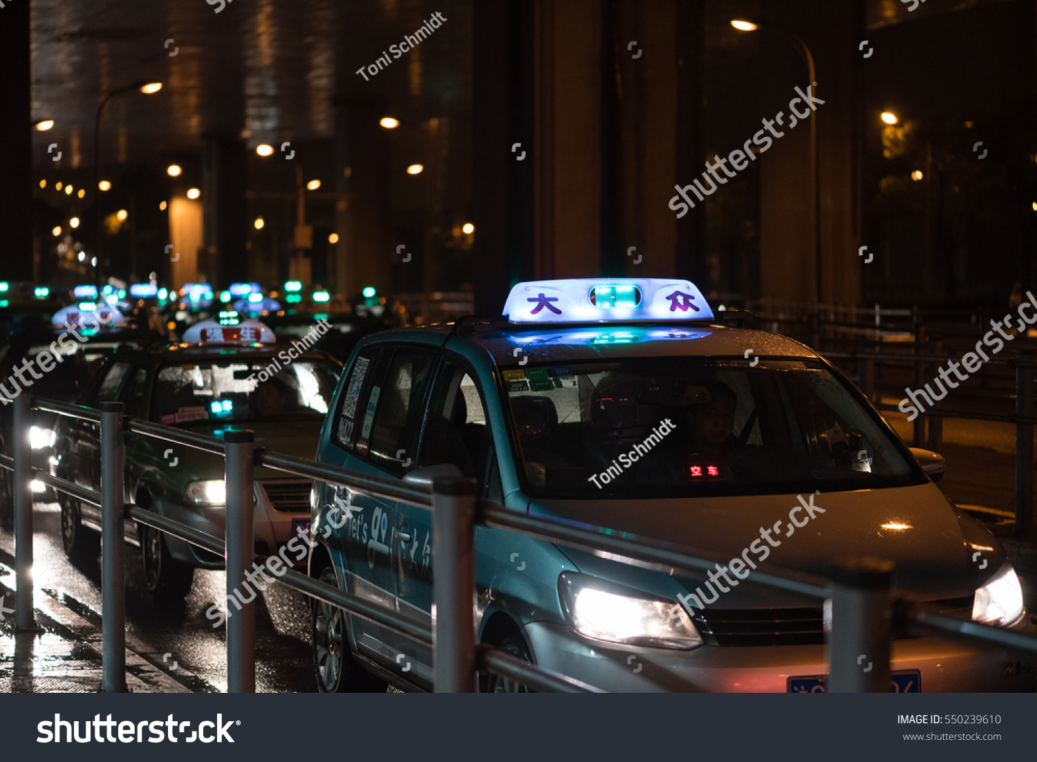 Shanghai China January 06 2017 Taxis Stock Photo (Edit Now