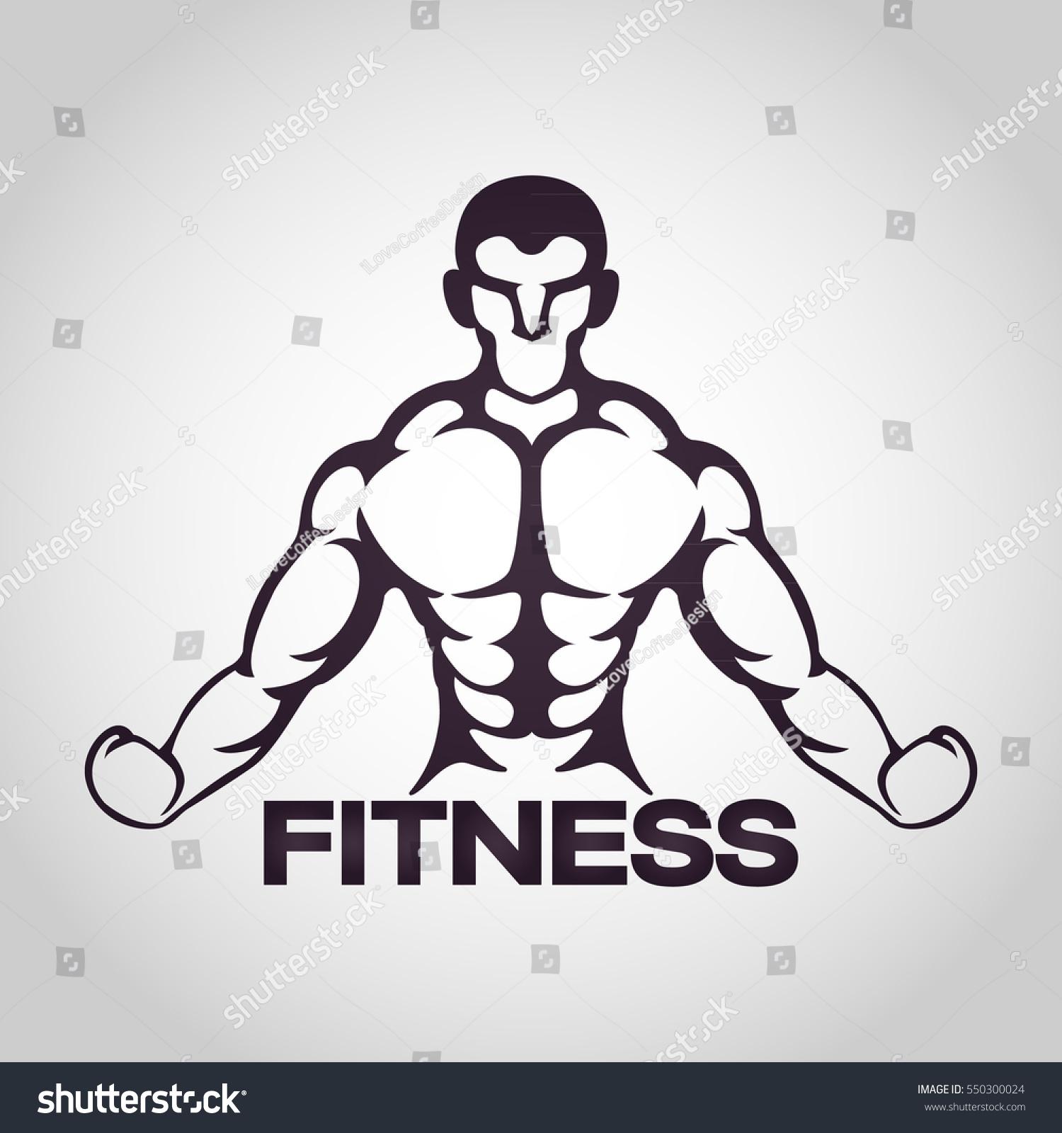 Fitness Logo Vector Icon Design Stock Vector 550300024 - Shutterstock for Physical Fitness Design  75tgx