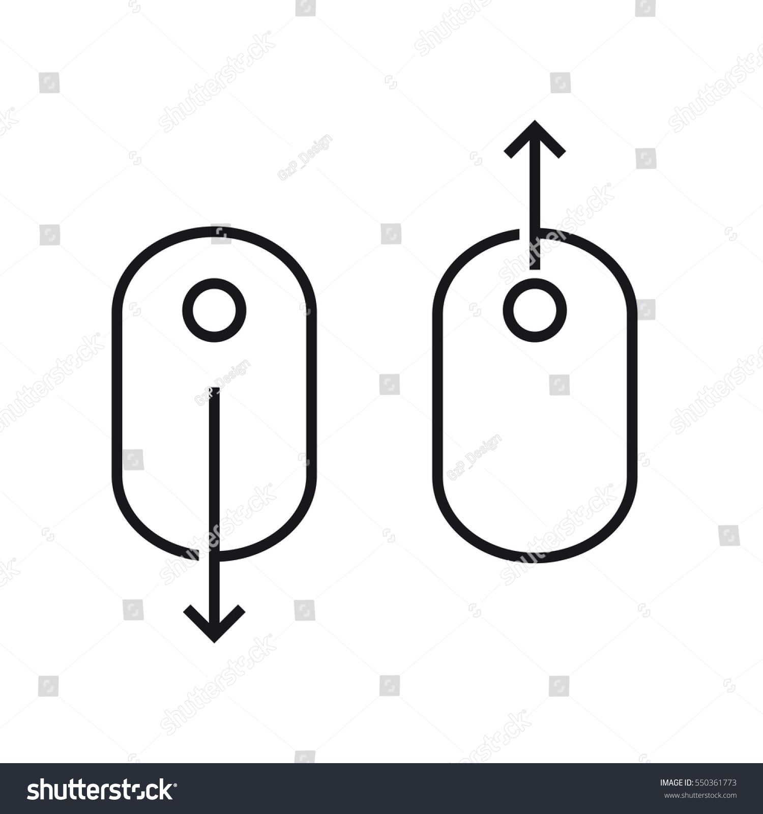 Scroll Down Computer Mouse Icon Vector Stock-Vektorgrafik ...