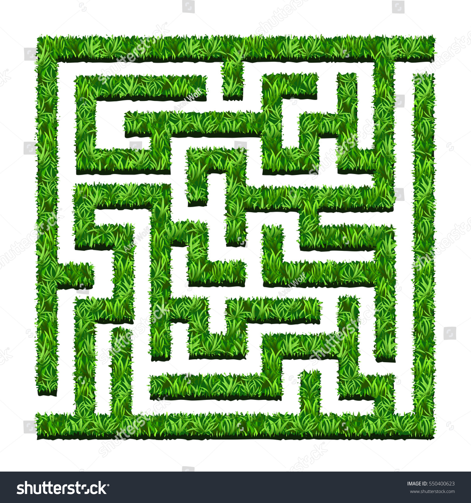 Maze green bushes labyrinth garden vector stock vector for Garden maze designs