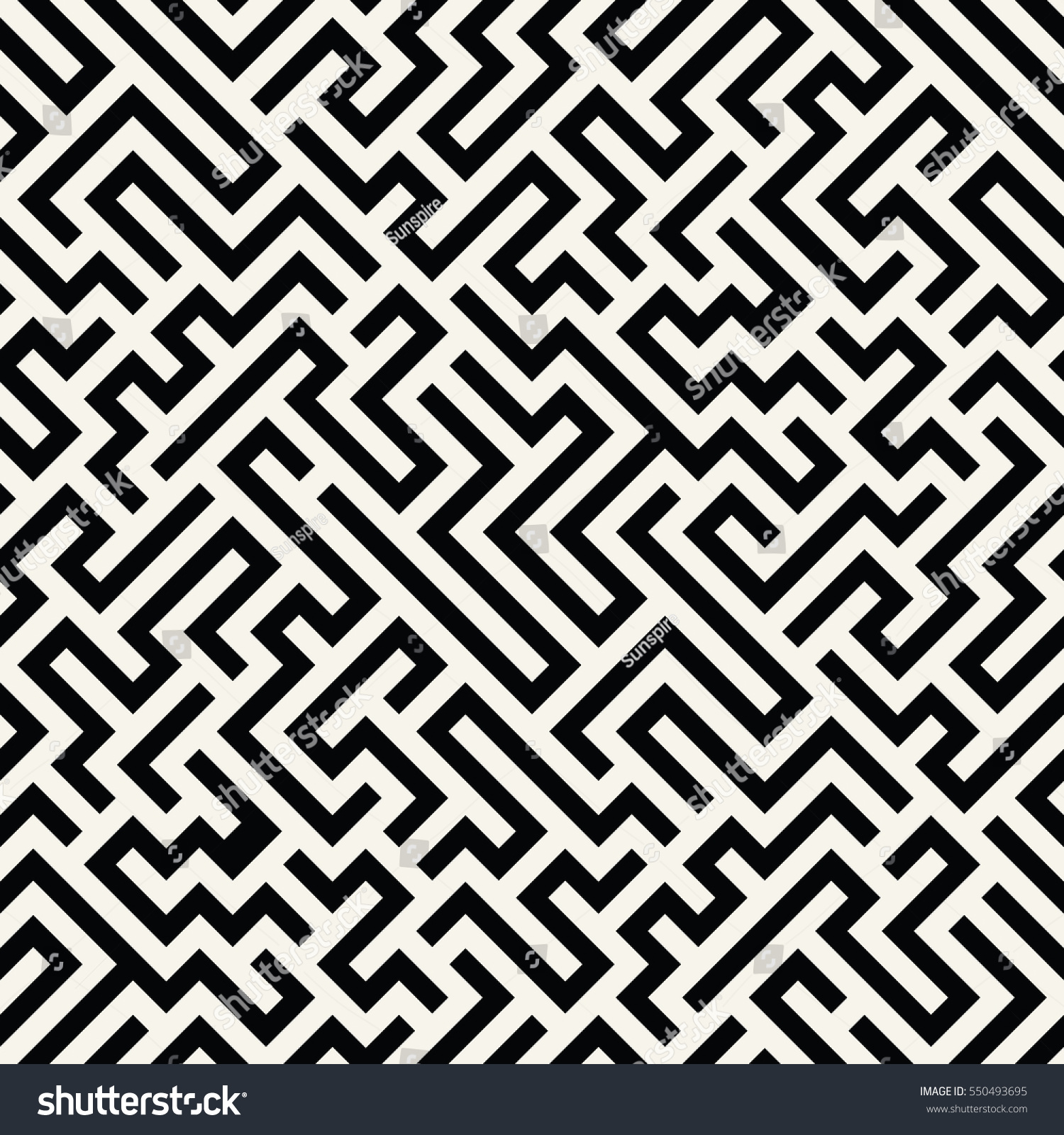 Black bed sheets pattern - Vector Graphic Abstract Geometry Maze Pattern Black And White Seamless Geometric Background Subtle Pillow