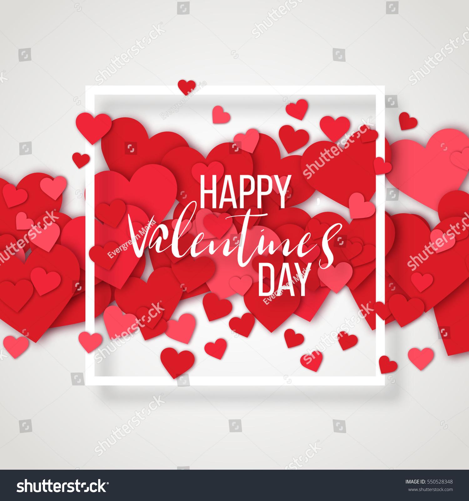 Luxury Elegant Happy Valentine Day Festive Stock Vector 550528348 ...