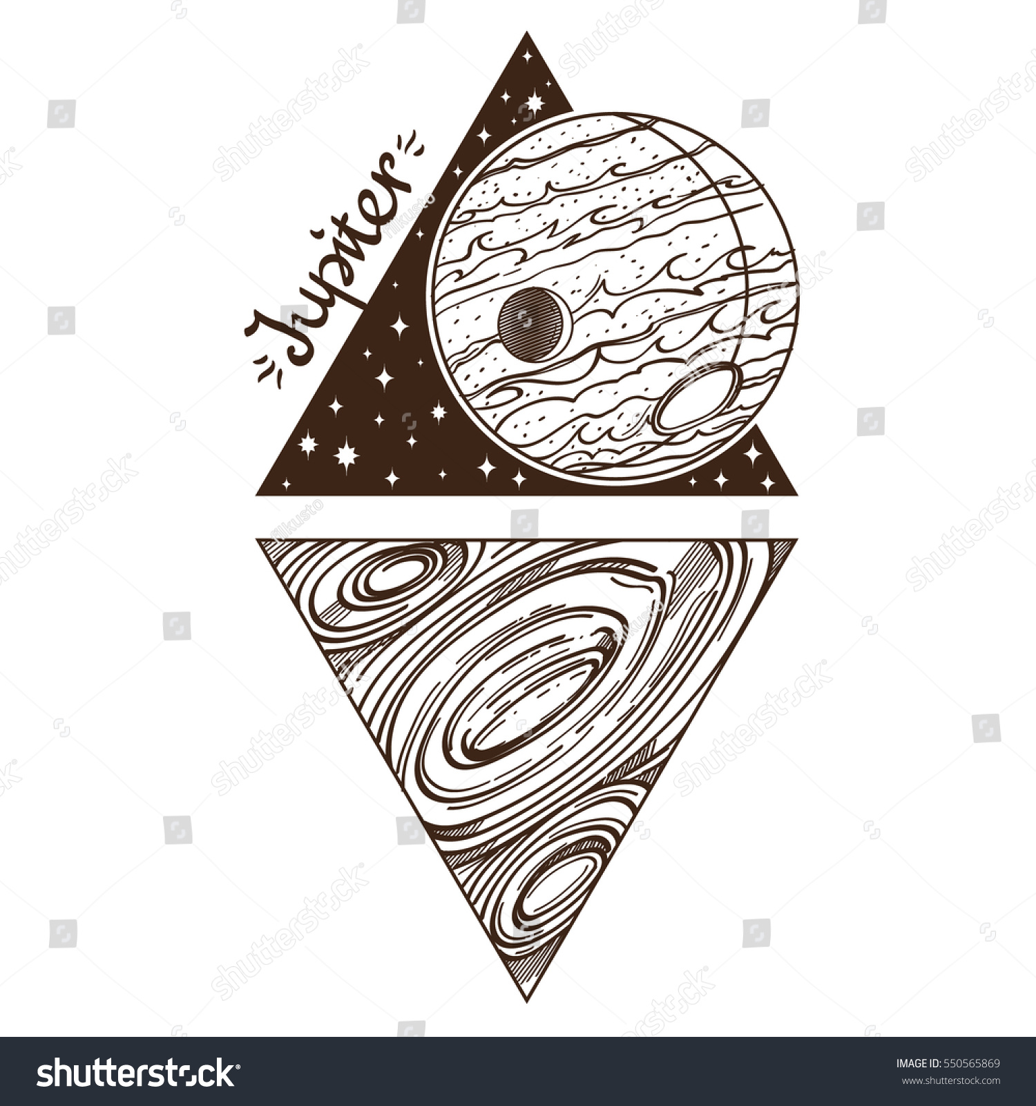 Jupiter planets stars solar system symbols stock vector 550565869 planets and stars of solar system symbols for astronomy and astrology coloring buycottarizona