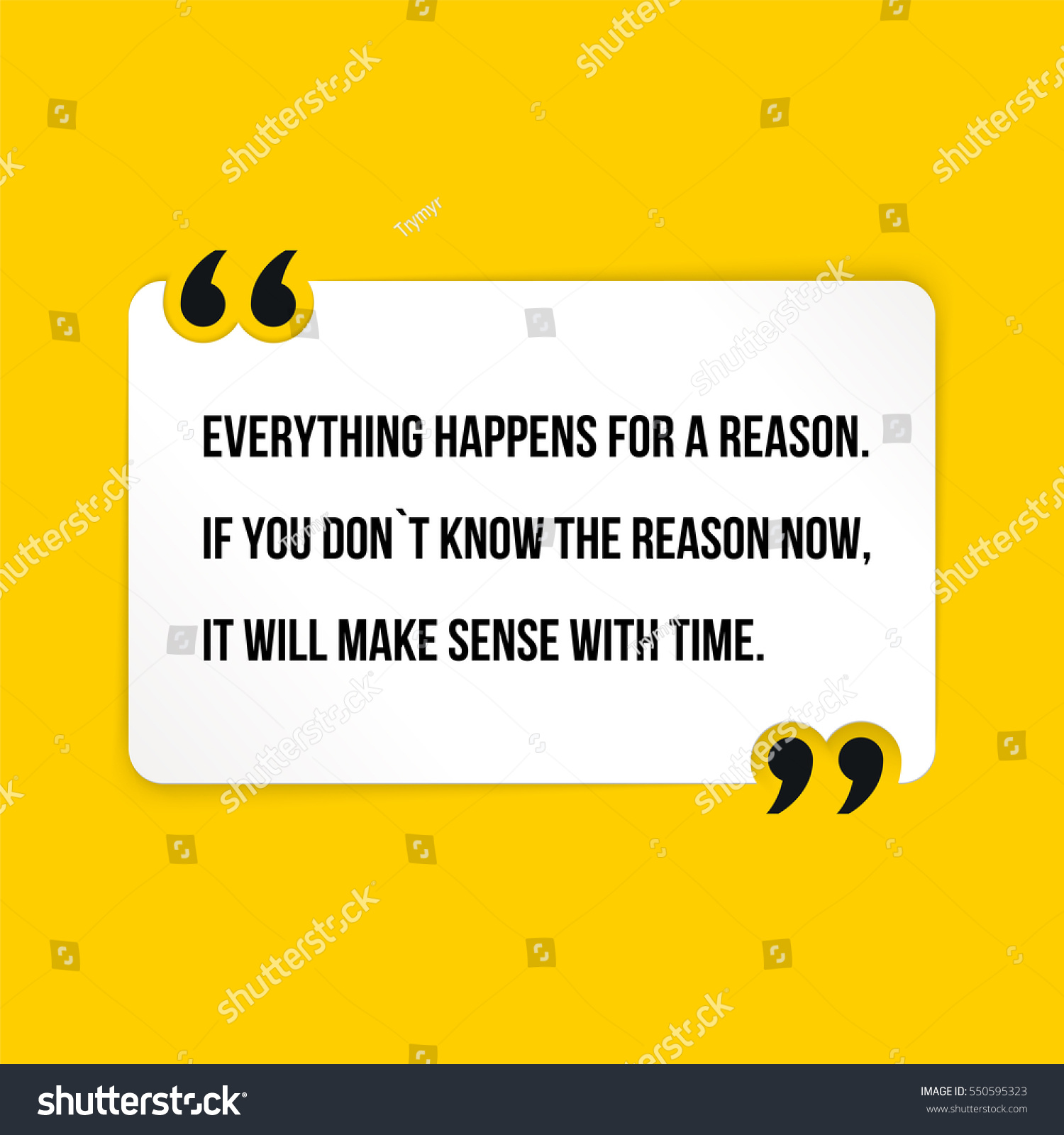 vector quote everything happens reason you stock vector royalty