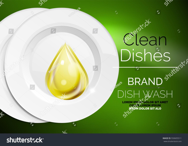 Vector Kitchen Dish Wash Drop On Stock Vector HD (Royalty Free ...