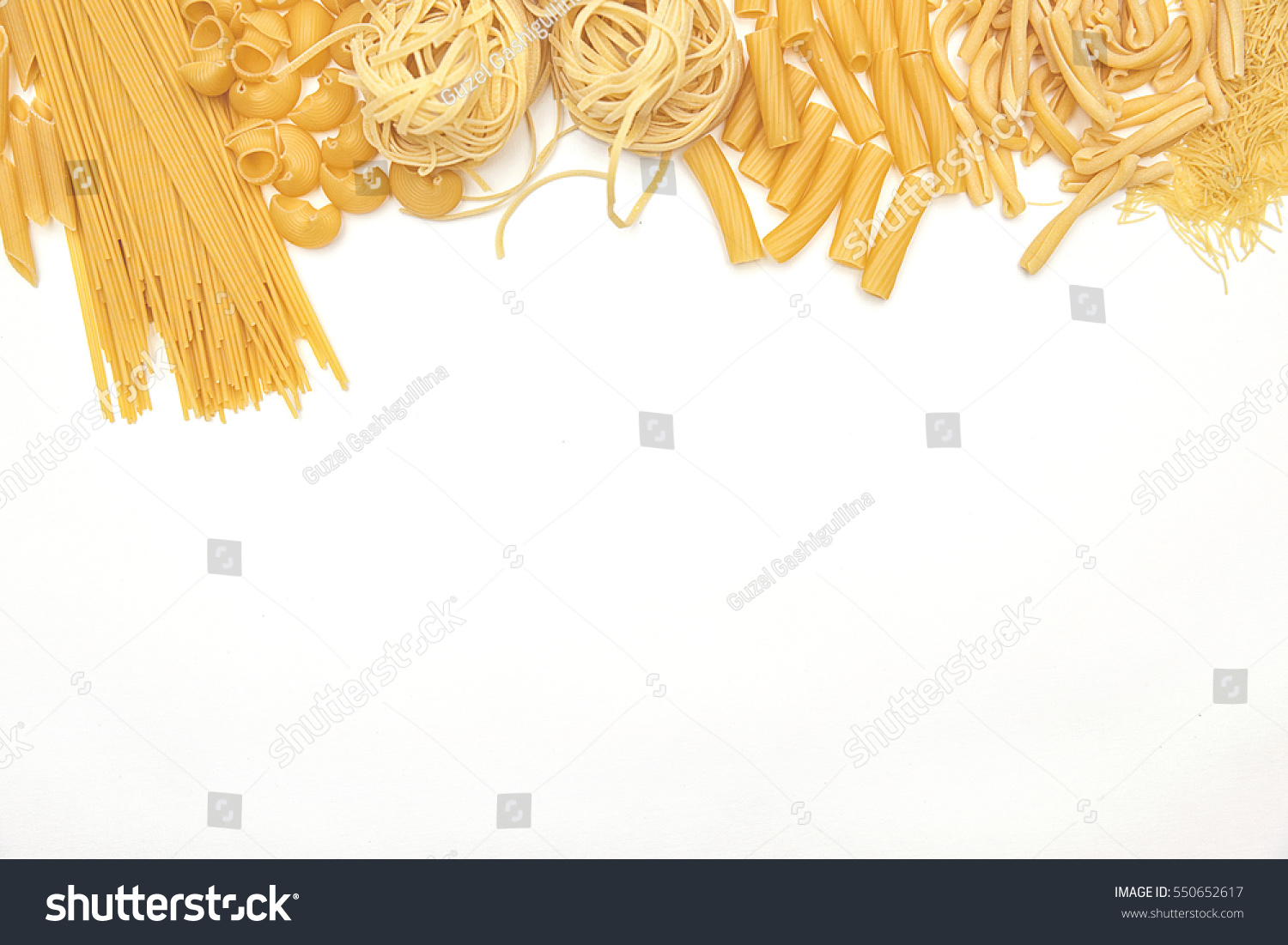 Food Drink Concept Various Uncooked Pasta Stock Photo Edit Now